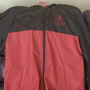 Jeffree Star windbreaker black and red used